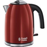 Russell-Hobbs 20412 1.7 Litre Colours Plus Kettle Red With Stainless Steel Accents