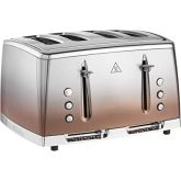Russell-Hobbs 25143 Eclipse Copper, Four Slice Toaster