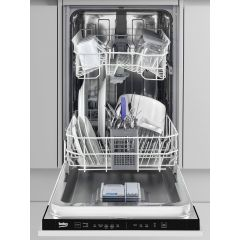Beko DIS15020 Fully Integrated Slimline Dishwasher, 10 Place Setting, W- 45Cm, E Rated