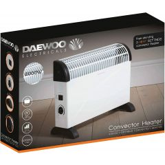 Daewoo HEA1146 2Kw Convector Heater 3 Settings And Variable Thermostat