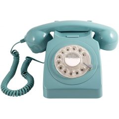 Gpo 746BLUE 70`S Style Rotary Phone