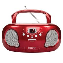 Groove GV7336 Red CD Player, Radio Am/Fm, MP3 Play Back