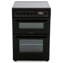 Hotpoint HAE60KS 60Cm Ceramic Elec•Double Oven With Main Fan Oven Black