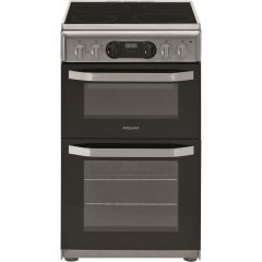 Hotpoint HD5V93CCS 50Cm Double Oven Electric Cooker With Ceramic Hob - Stainless Steel