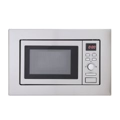 Montpellier MWBI17-300 Built-In Slim Depth Solo Microwave 17Ltr Capacity, 700W, H388 W594 D300mm