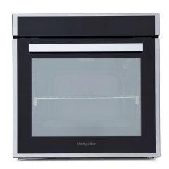 Montpellier SFP077MBX Black 75L 9 Functions,Pyrolytic Single Oven, Telescopic Runners
