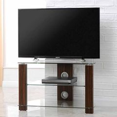 Pps Distribution Ltd. AVS-L630--800/3-WC Vision 1050 Walnut And Clear Glass TV Stand