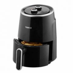 Tower TI7066BLK Compact Air Fryer, 1.8 Litre, Adjustable Temperature, 30 Minute Timer